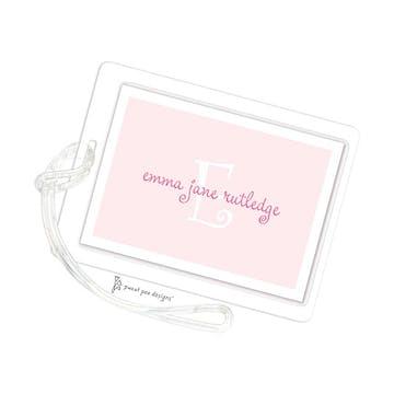 White Edge Pink ID Tag