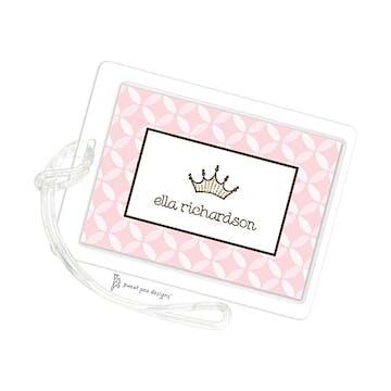 Baby Circles Pink ID Tag
