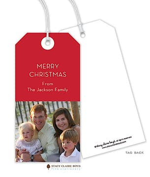 Merry Memories Holiday Photo Gift Tag