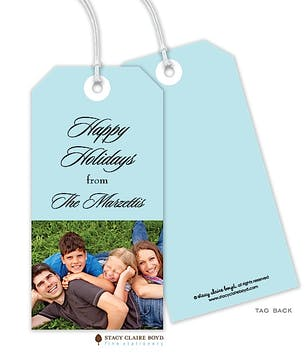 Simple Holidays Holiday Photo Gift Tag