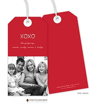 Merry Memories Holiday Photo Gift Tag with Cord