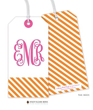 Diagonal Stripes Hanging Gift Tag