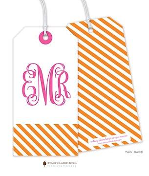 Diagonal Stripes Hanging Gift Tag