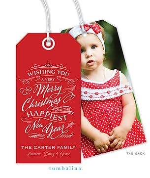 Whimsical Christmas Wish Hanging Gift Tag