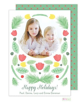 Winter Garden Holiday Flat Photo Card