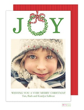Joyful Holiday Flat Photo Card