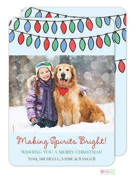 Bright Lights Holiday Flat Photo Card