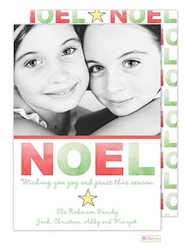 Noel Holiday Flat Photo Card