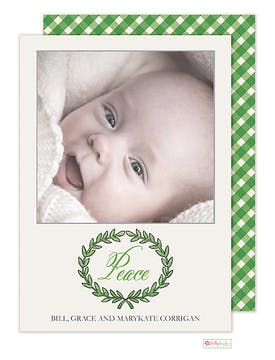 Olive Branch Holiday Flat Photo Card