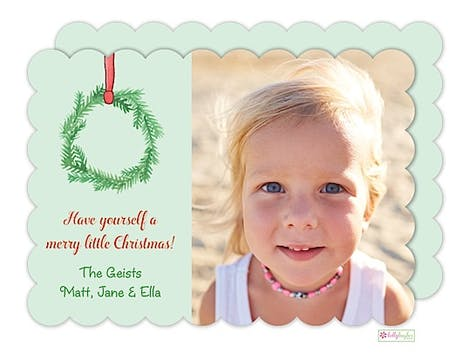 Holiday Wreaths Holiday Flat Photo Card