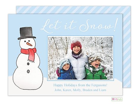 Let it Snow Holiday Flat Photo Card