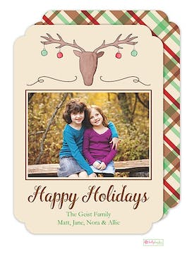 Cabin Christmas Holiday Flat Photo Card
