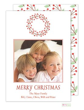 Winterberry Holiday Flat Photo Card