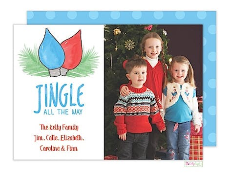 Jingle Blues Holiday Flat Photo Card