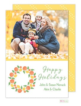 Winter Citrus Holiday Flat Photo Card