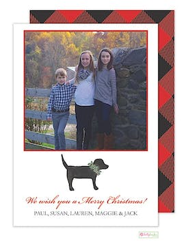 Labrador Love Holiday Flat Photo Card