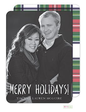Tartan Plaid Holiday Flat Photo Card
