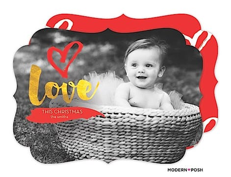 Big Love Holiday Flat Photo Card