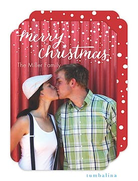 Flurry Christmas Holiday Flat Photo Card