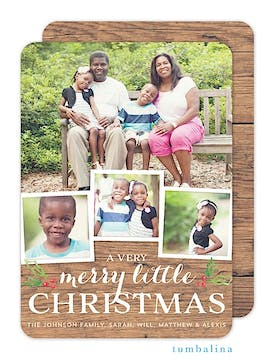 Rustic Christmas Memories Holiday Flat Photo Card