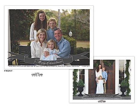 Banner Holiday Flat Photo Card