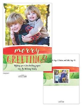 Watercolor Holiday Flat Photo Card