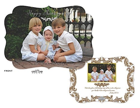 Elegant Thanksgiving Flat Photo Card