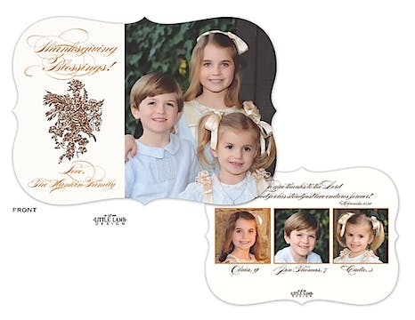 Cornucopia Thanksgiving Flat Photo Card