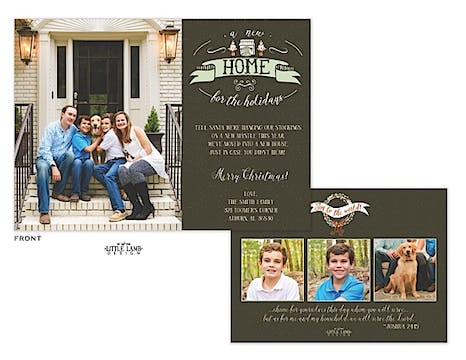 A New Home For The Holidays Holiday Flat Photo Card