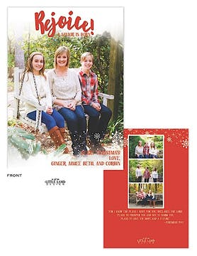 Rejoice! Holiday Flat Photo Card