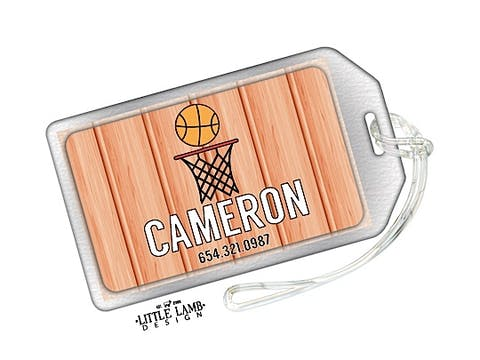 Basketball ID Tag