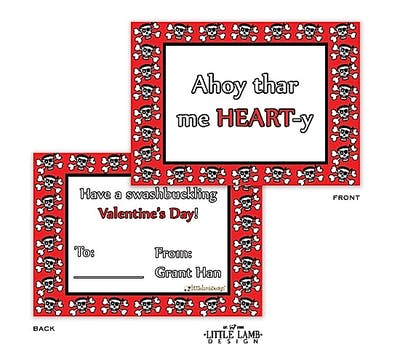 Pirate Valentine Cards