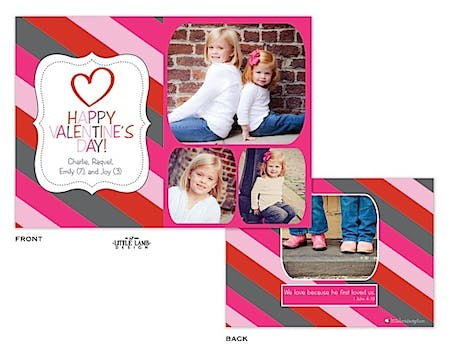 Bold Striped Valentine's Photocard