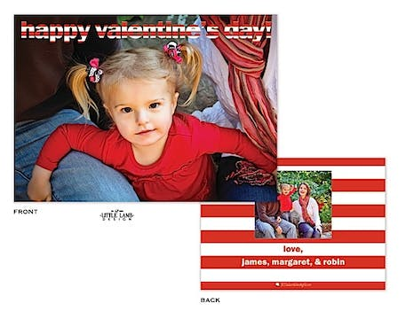 Full Photo and Stripes Valentine's Photocard