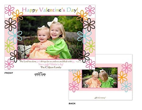 Fun Flowers Valentine's Photocard