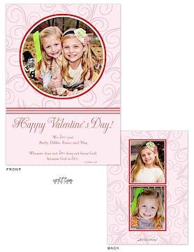 Swirls Valentine's Photocard