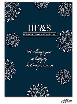 Snowflake Background Business Holiday Card