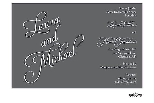 Grey Names Invitation