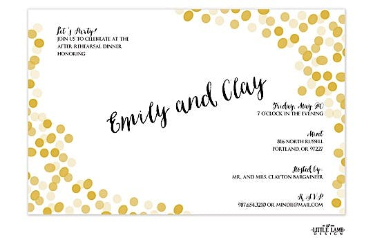 Gold Confetti Invitation