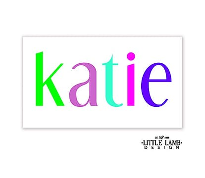 Colorful Name Gift Sticker
