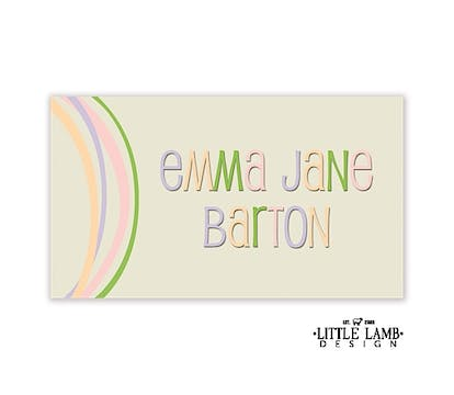 Taupe gift sticker