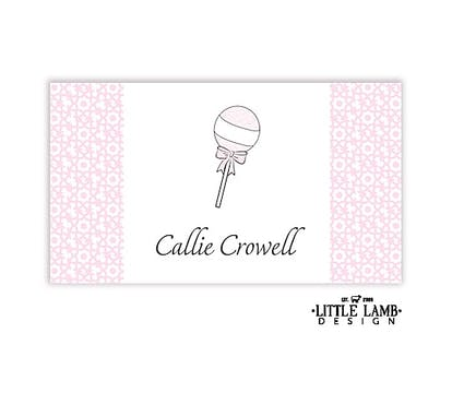 Pink Rattle Gift Sticker