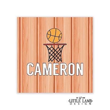 Basketball Round Gift Sticker
