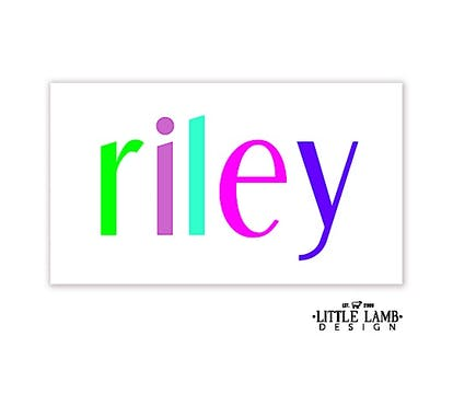 Colorful Name Enclosure Card