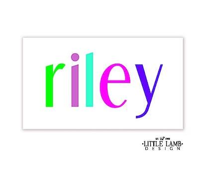 Colorful Name Enclosure Card