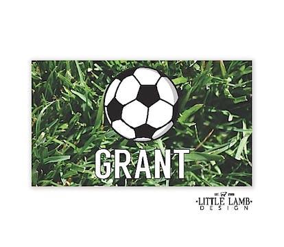 Soccer Enclosure Card