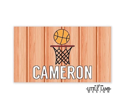 Basketball Enclosure Card