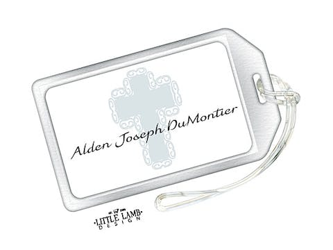 Blue Cross Luggage Tag