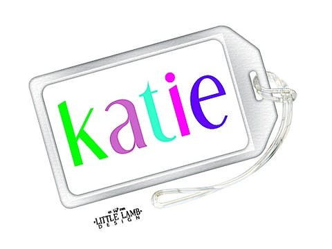 Colorful Name Luggage Tag