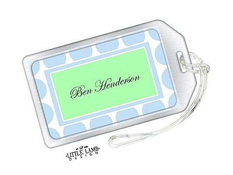Blue Dots Luggage Tag
